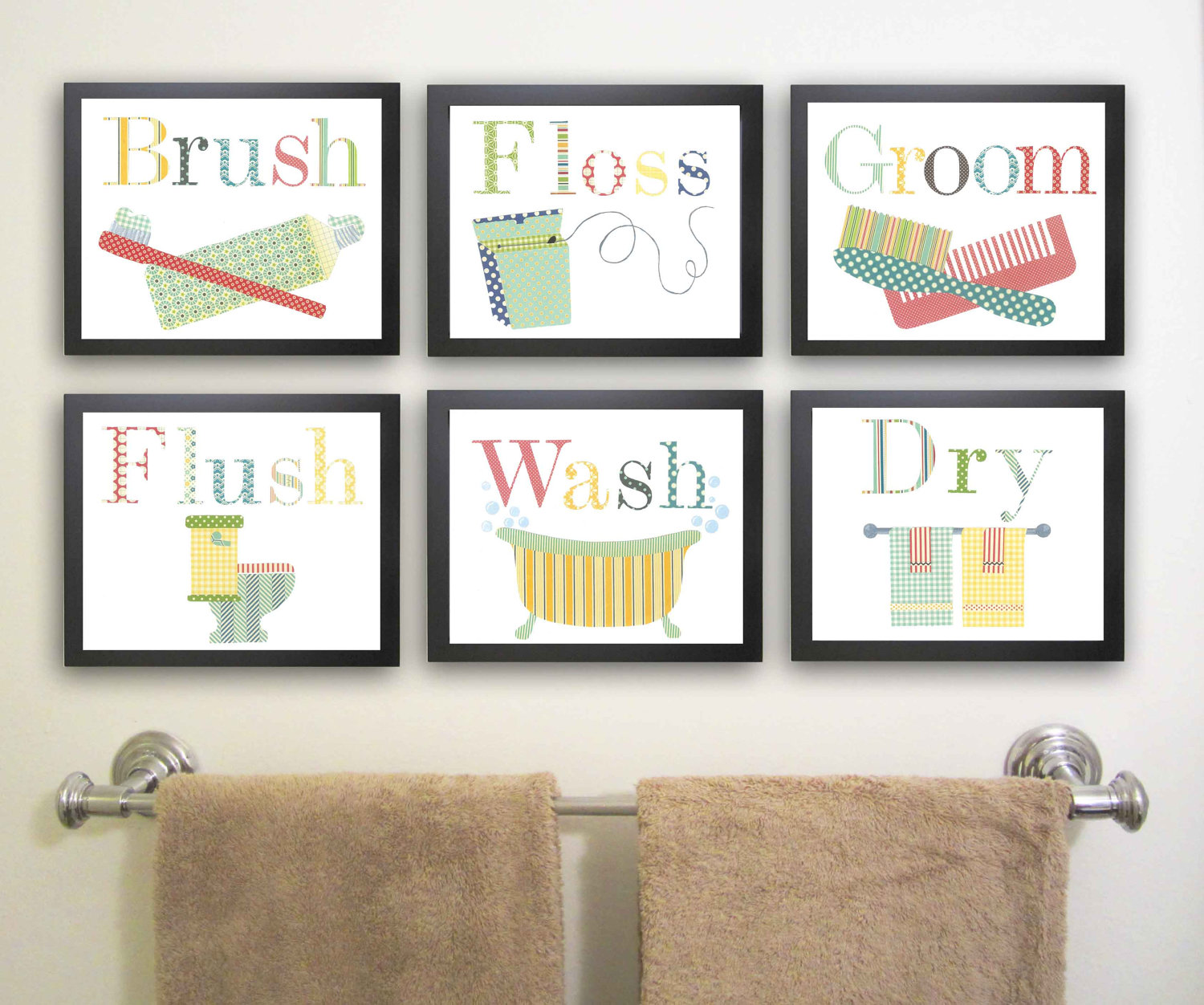 Image of: Best Kids Bathroom Wall Decor