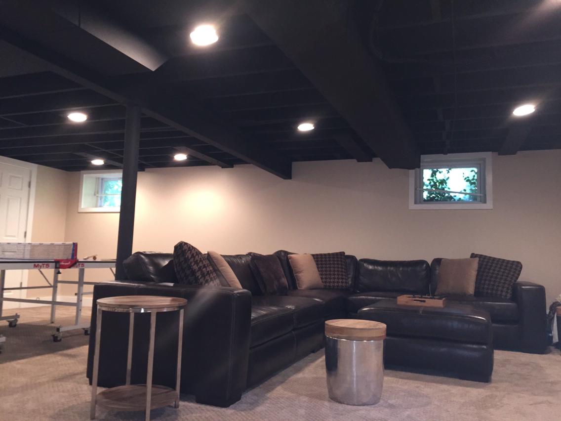 Image of: Best Unfinished Basement Ceiling Ideas