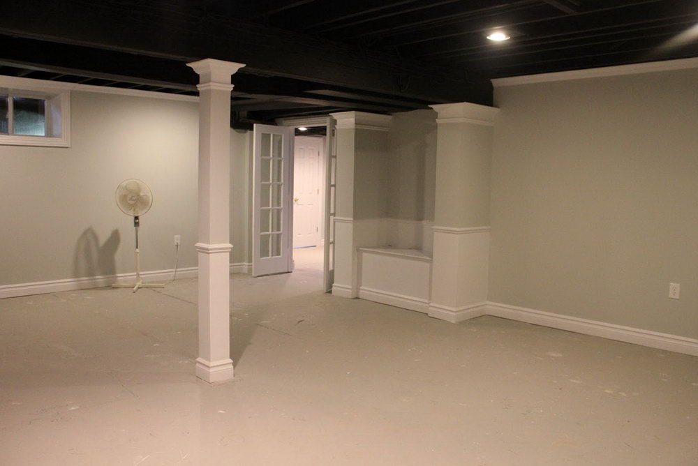 Black Drop Ceiling Ideas Basement