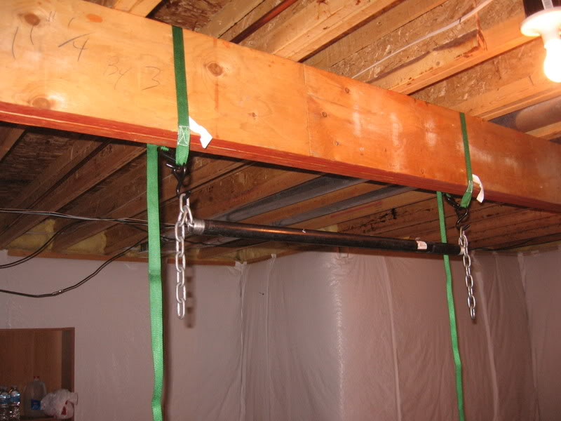 Image of: Ceiling Basement Pull Up Bar