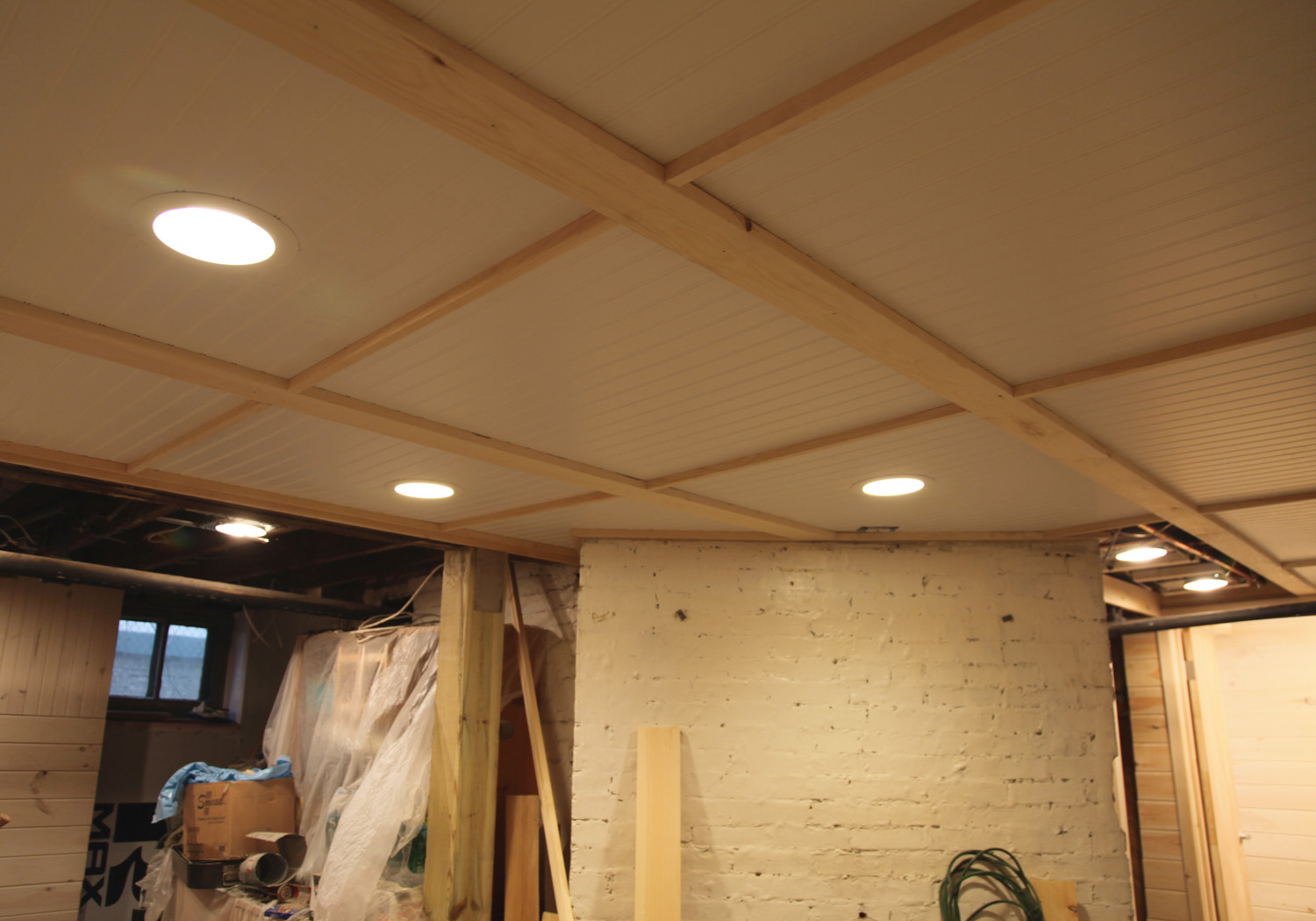 Cheap Easy Basement Ceiling Ideas