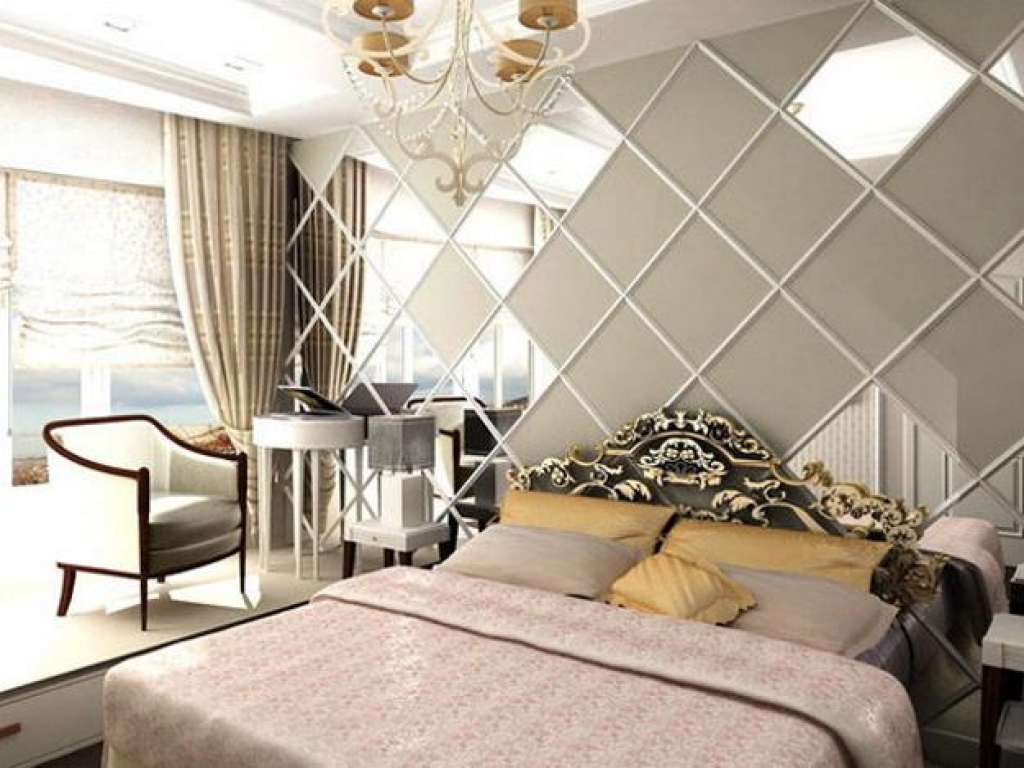 Image of: Cool Decorative Mirrors Bedroom Wall