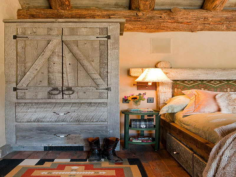 Image of: Country Style Unfinished Basement Bedroom