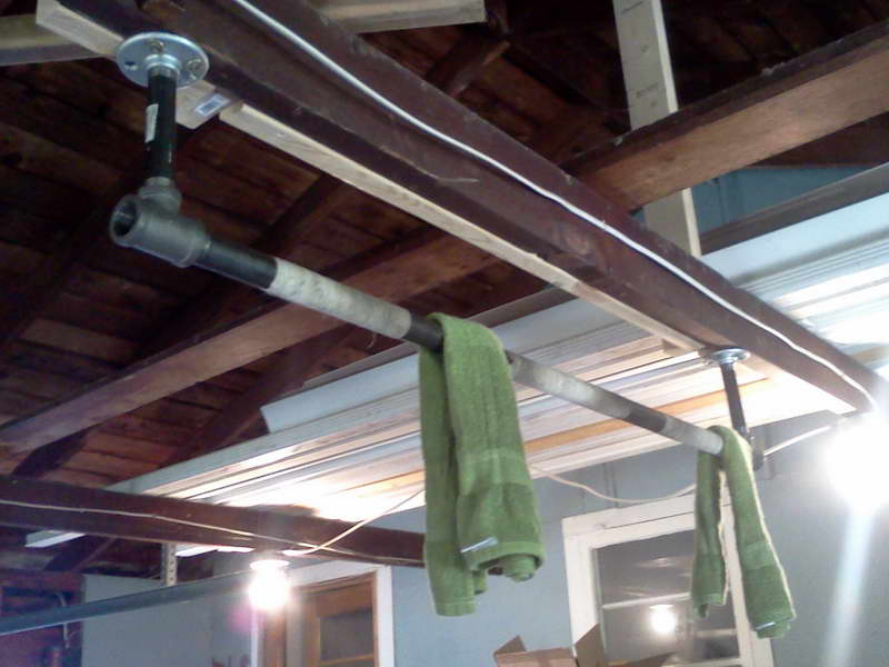 Creative Basement Pull Up Bar