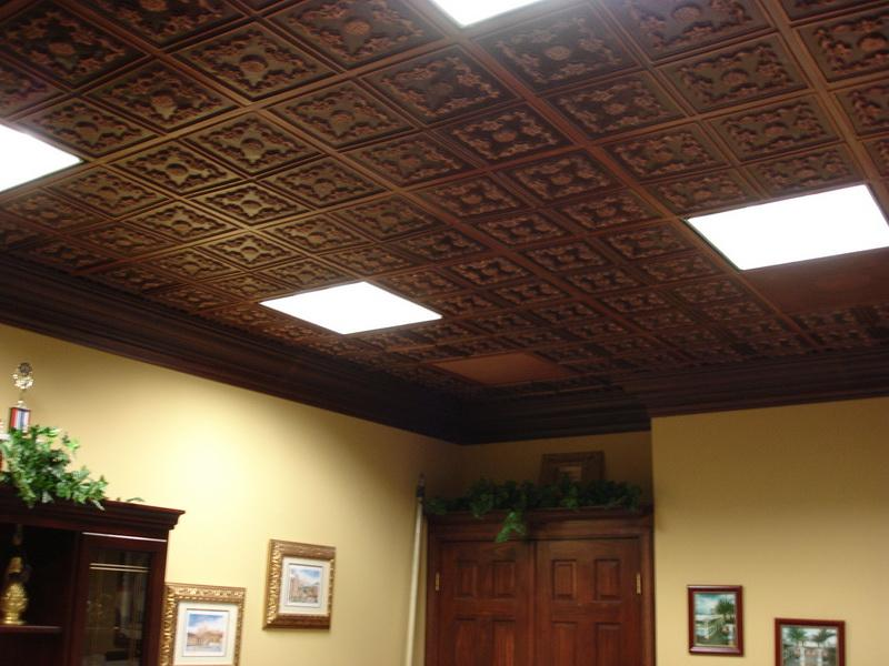 Image of: Creative Finished Basement Ceiling Ideas