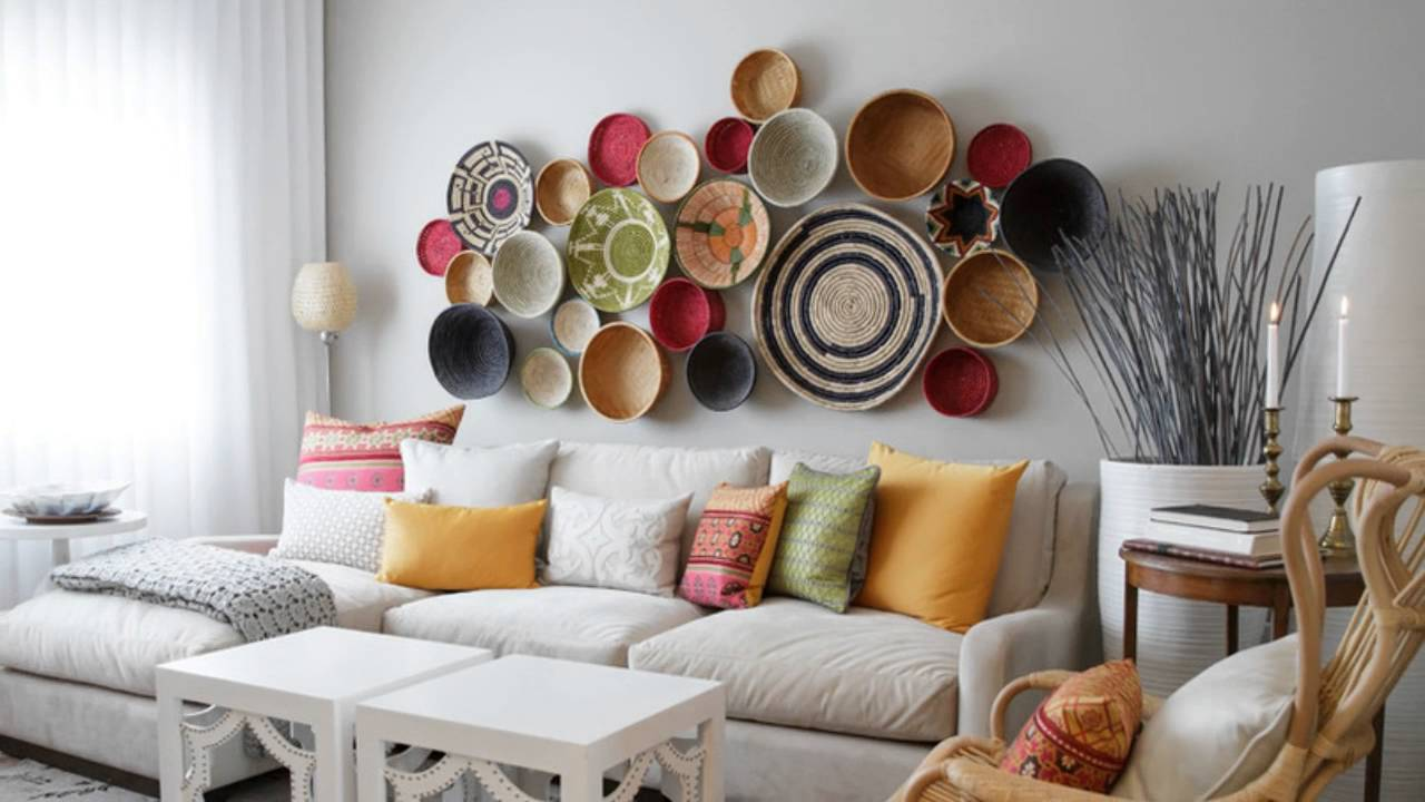 Image of: Creative Large Living Room Wall Decor