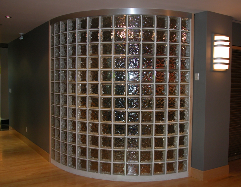 Picture of: Curved Glass Block Basement Windows
