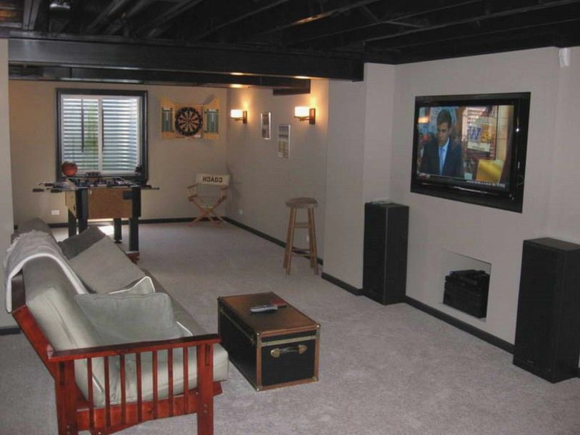Picture of: Cute Unfinished Basement Ceiling Ideas