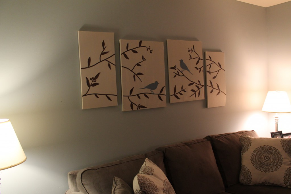 Picture of: DIY Living Room Decor Canvas