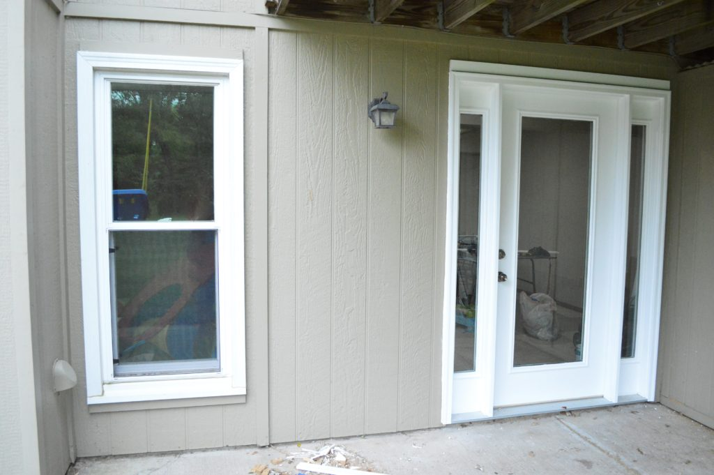 Image of: Exterior Basement Door Installation