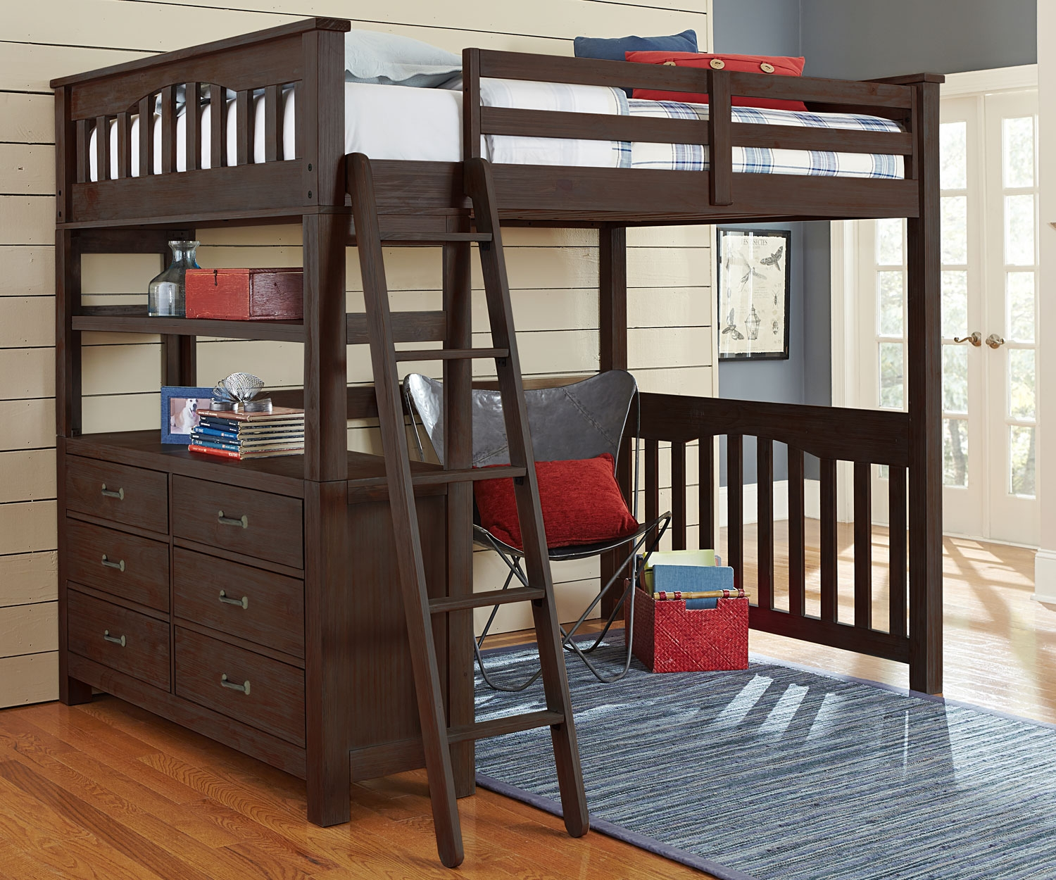 Image of: Full Size Bunk Bed Mattress and Desk