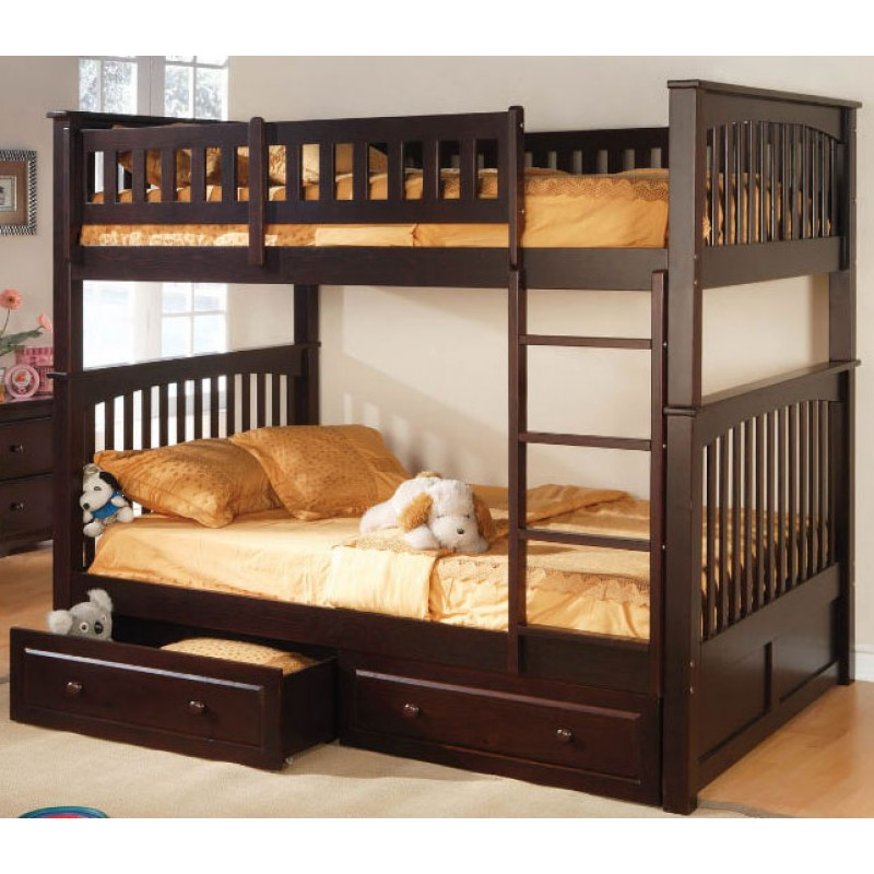 Image of: Full Size Bunk Bed Mattress with Drawers