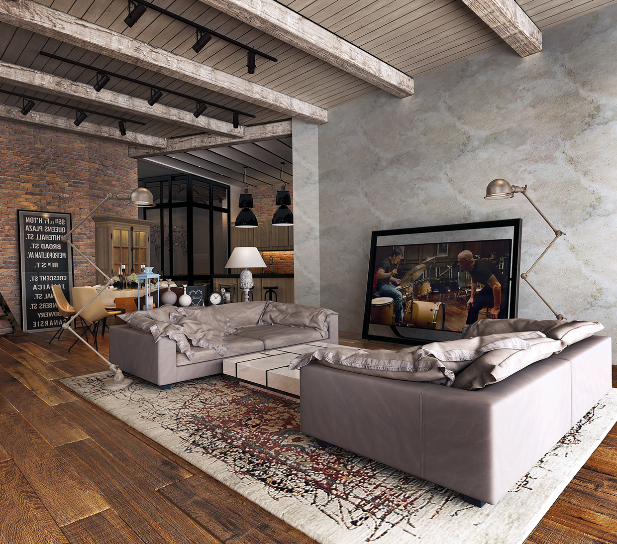 Image of: Funky Basement Apartment