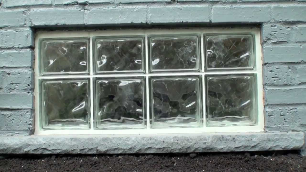 Picture of: Glass Block Basement Windows Install