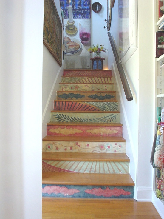 Image of: Great Paint for Basement Stairs