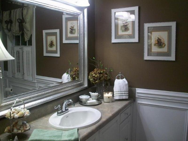 Great Wall Decor For Small Bathroom