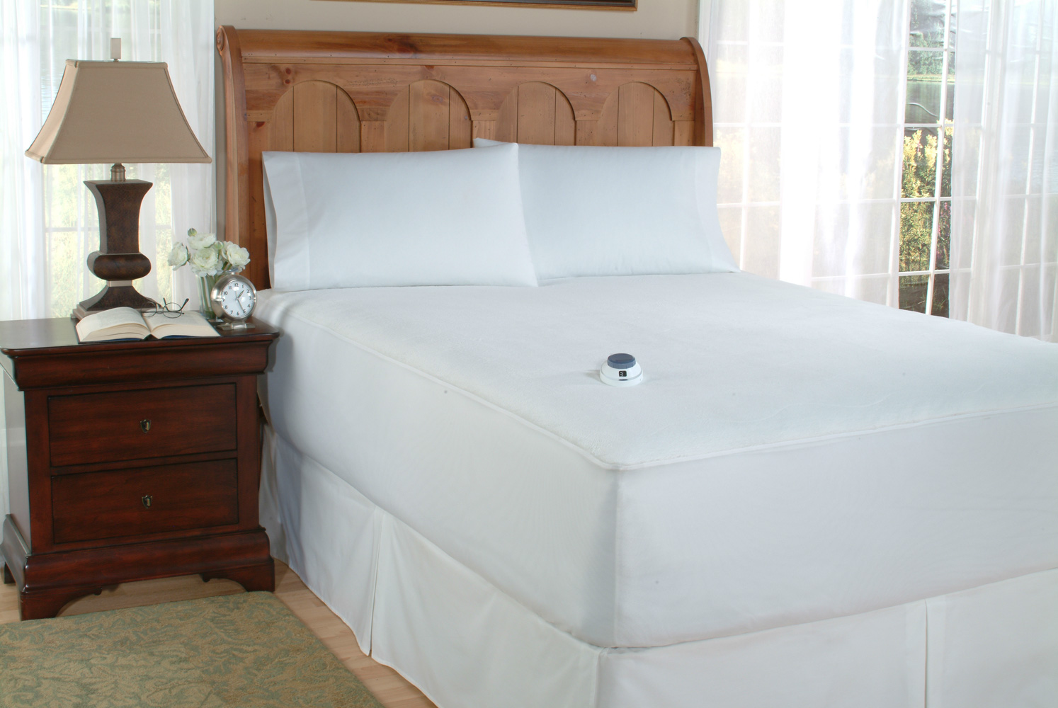Image of: Heated Mattress Pad Queen Dual Control