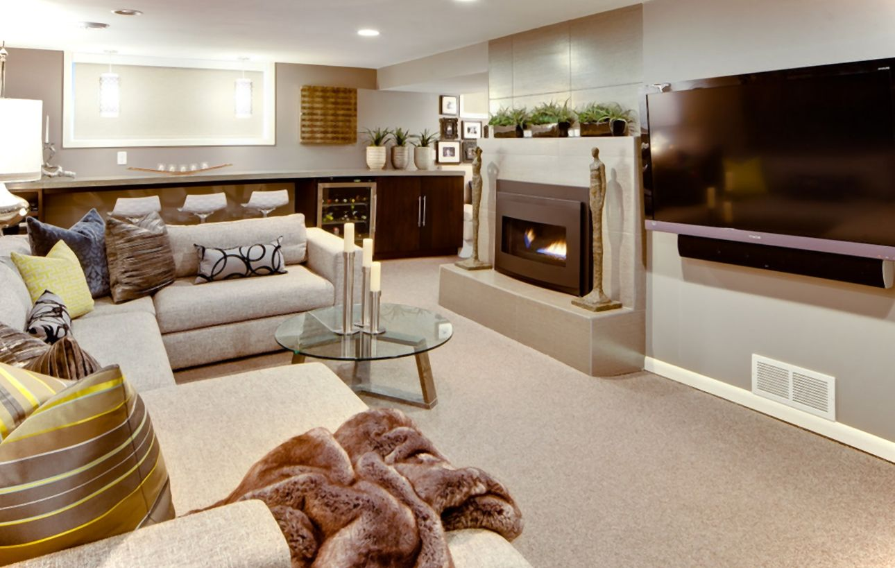 How To Remodel A Basement On A Budget Modern