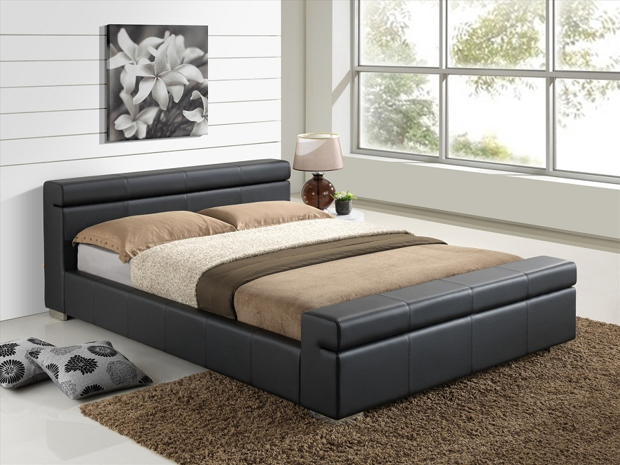 Picture of: Ikea Full Size Mattress Leather Frame