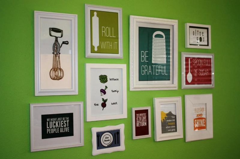 Picture of: Kitchen Wall Art Decor Frame