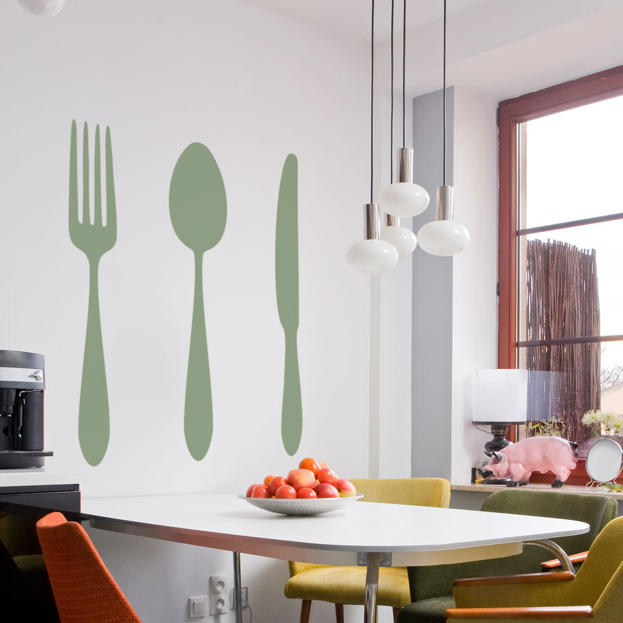 Image of: Large Fork and Spoon Wall Decor Art