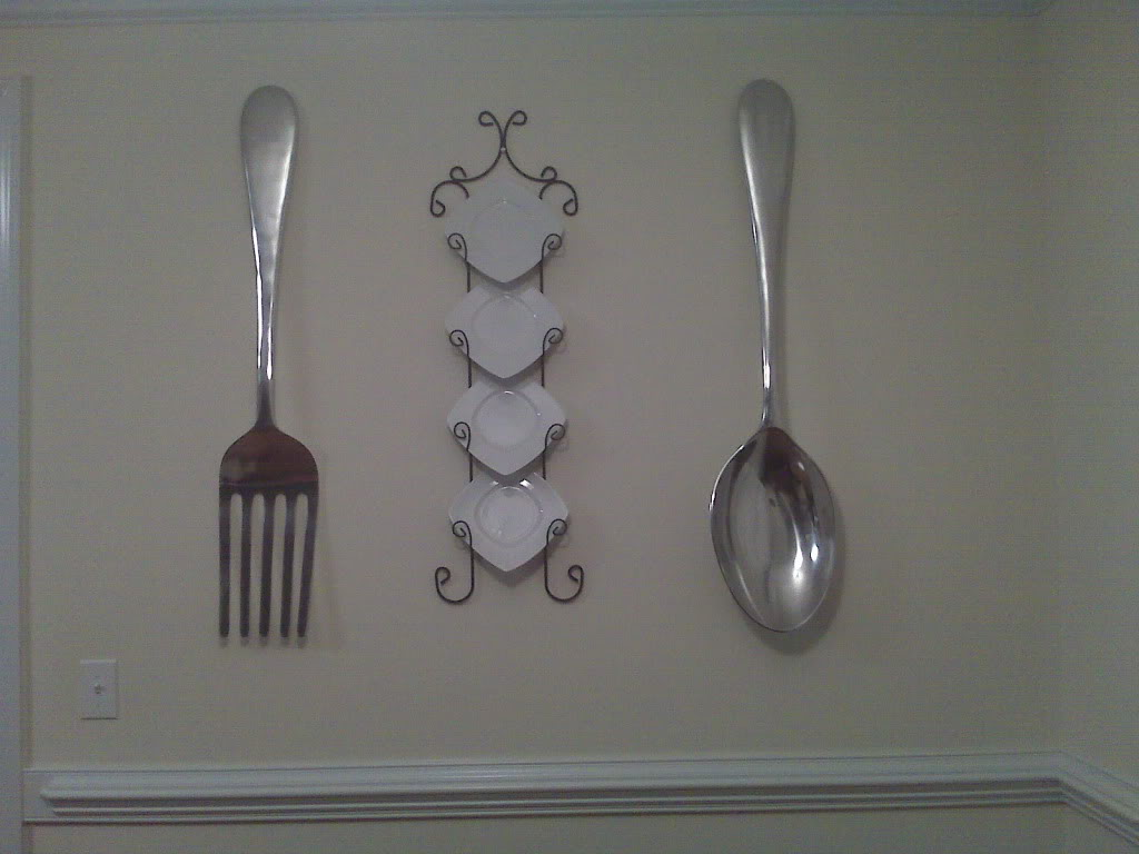Image of: Large Fork and Spoon Wall Decor Photo