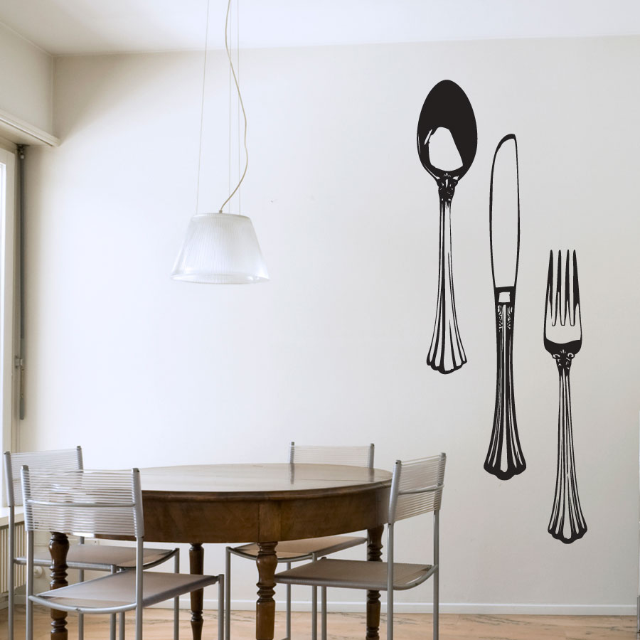 Image of: Large Fork and Spoon Wall Decor Style
