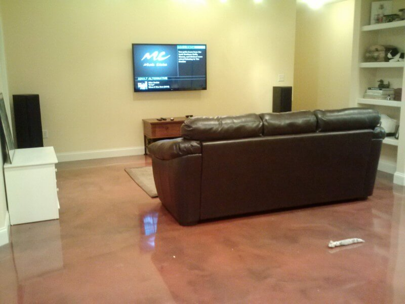 Image of: Metallic Epoxy Basement Floor Plan