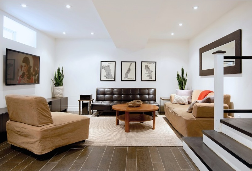 Modern Basement Flooring Ideas