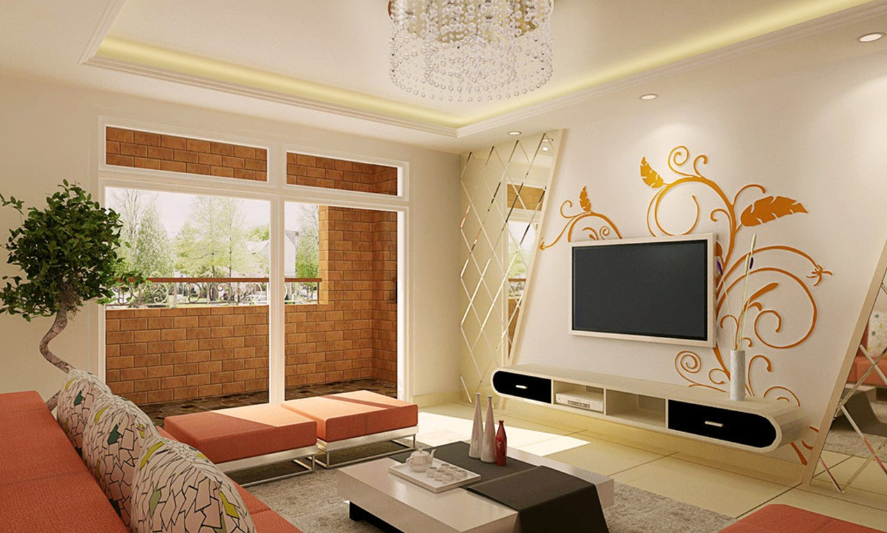 Image of: Modern Living Room Wall Decor Ideas Paint
