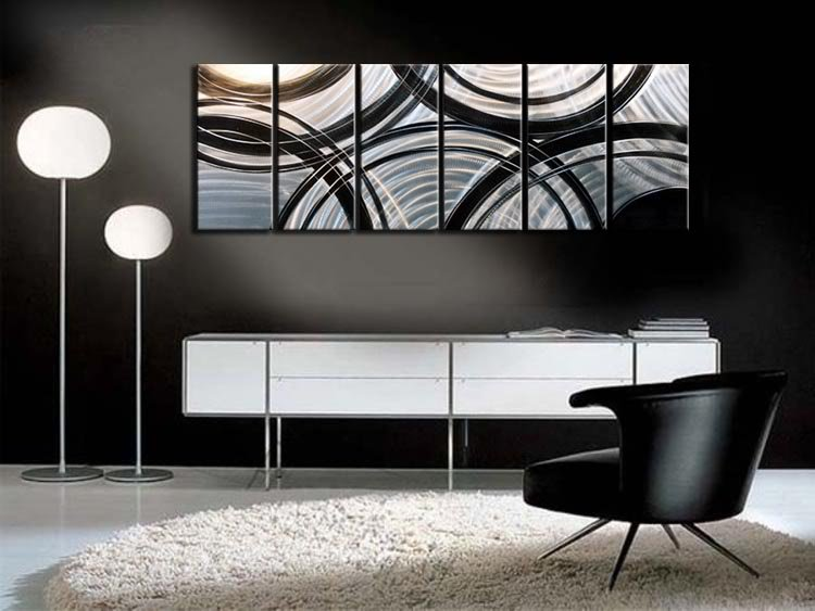 Image of: Modern Metal Wall Art Decor Awesome