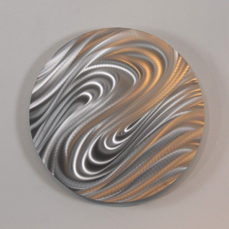 Image of: Modern Metal Wall Art Decor Circle