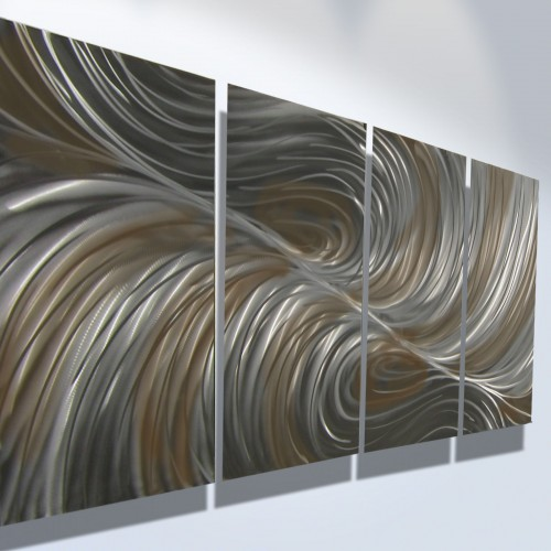 Image of: Modern Metal Wall Art Decor Contemporary
