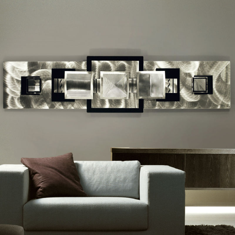 Image of: Modern Metal Wall Art Decor Living Room