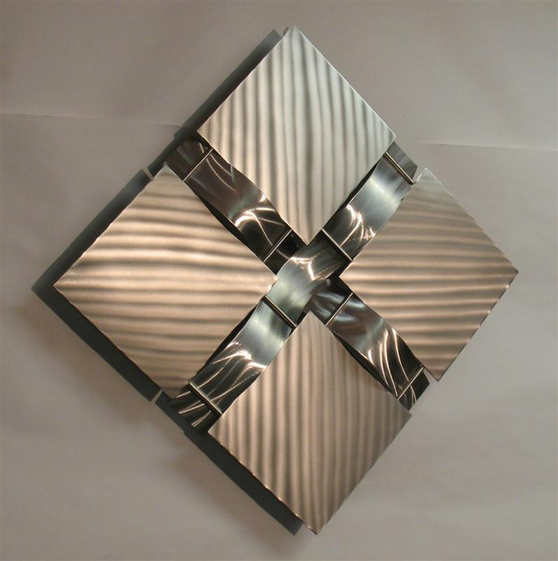 Image of: Modern Metal Wall Art Decor Square