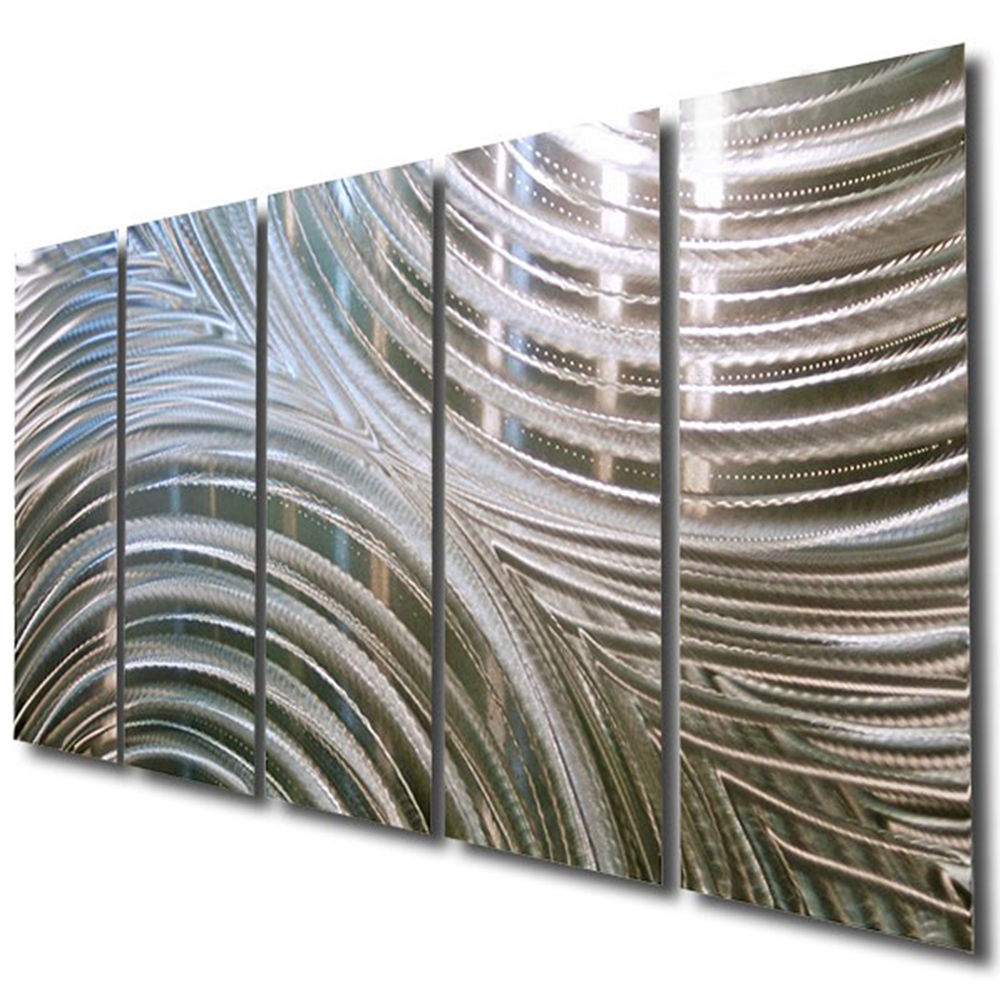 Image of: Modern Metal Wall Art Decor Wide