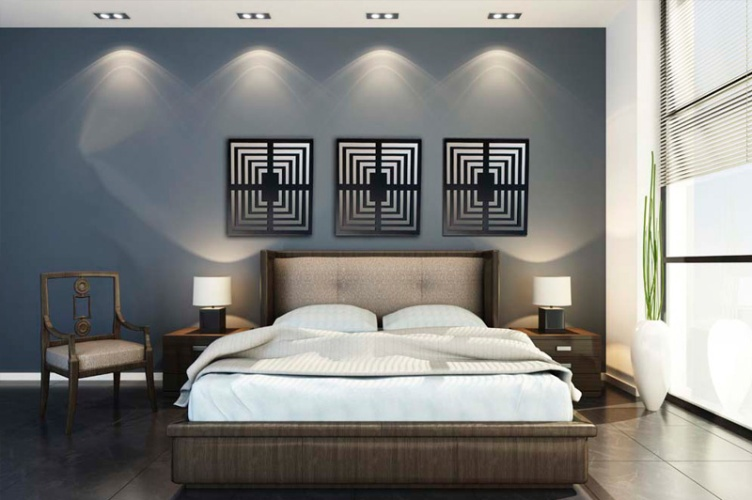 Modern Metal Wall Decor Plan