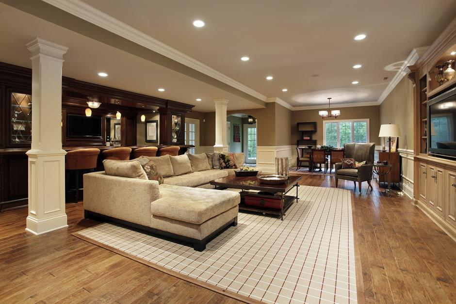 Picture of: Nice Best Lighting for Basement