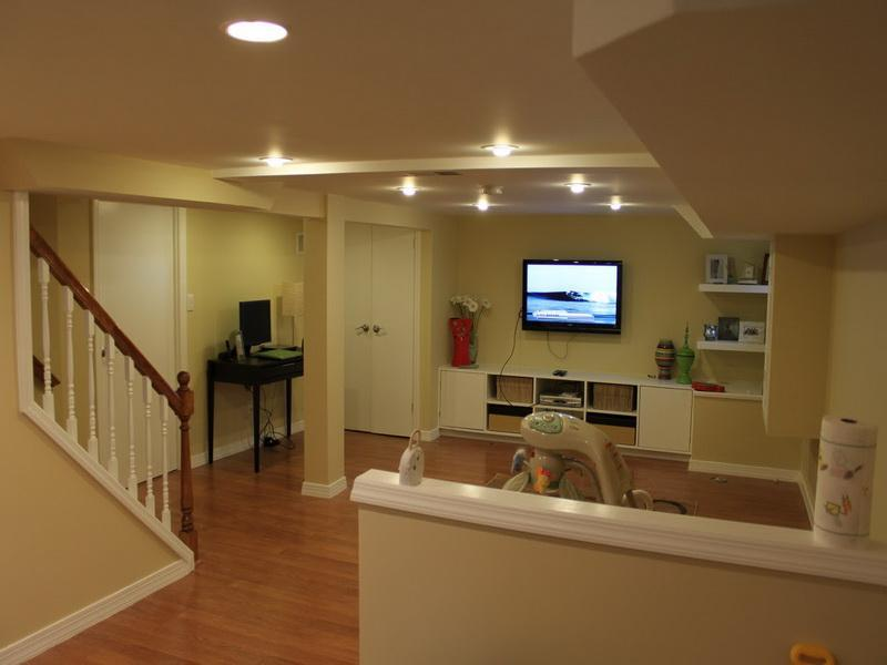 Image of: Nice Small Basement Remodel