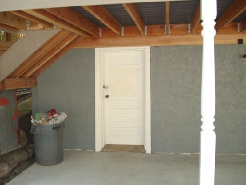 Image of: Outside Basement Trap Door