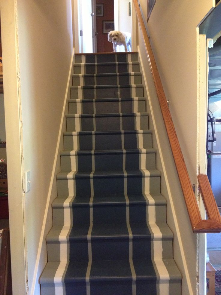 Image of: Paint for Basement Stairs with Rugs