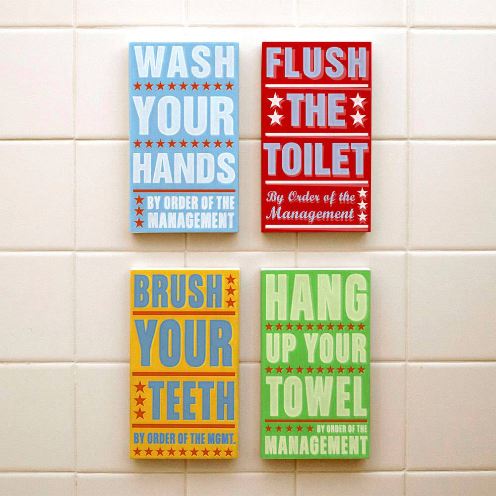 Picture of: Perfect Kids Bathroom Wall Decor