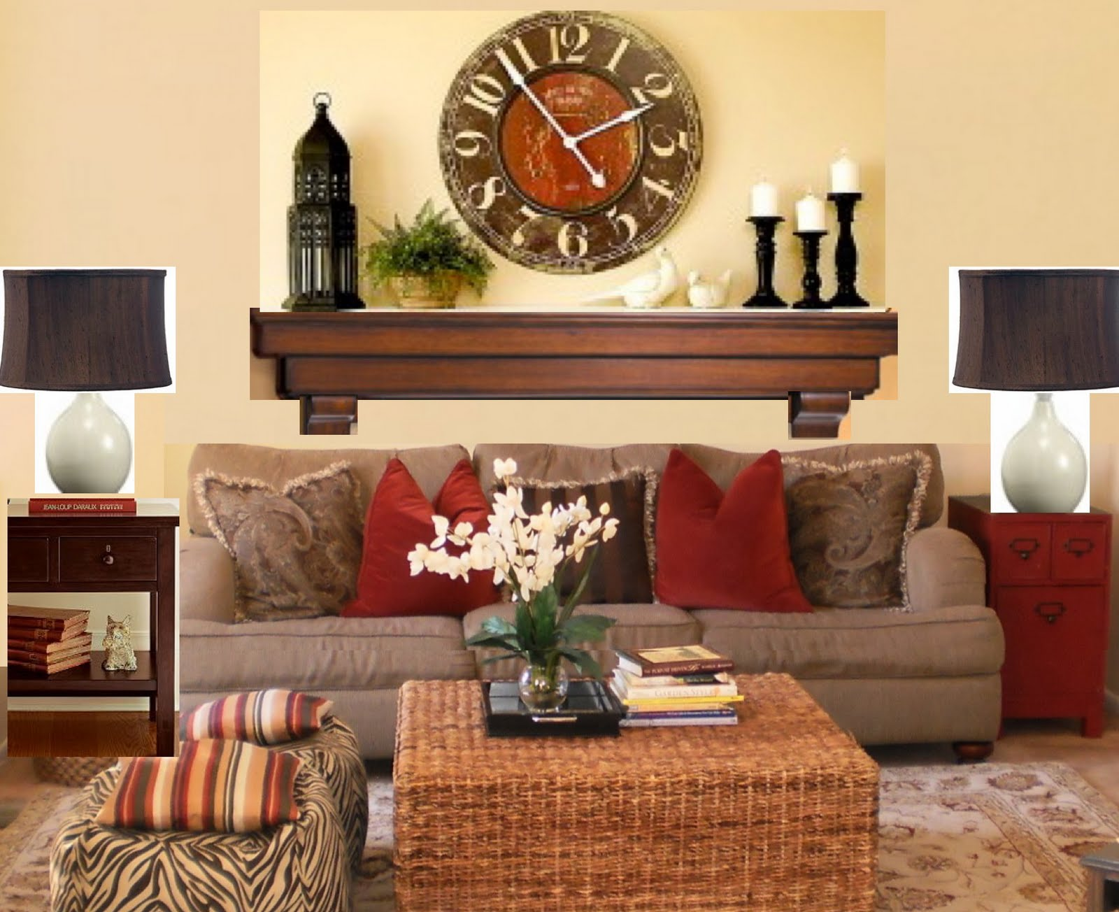Image of: Popular Large Living Room Wall Decor