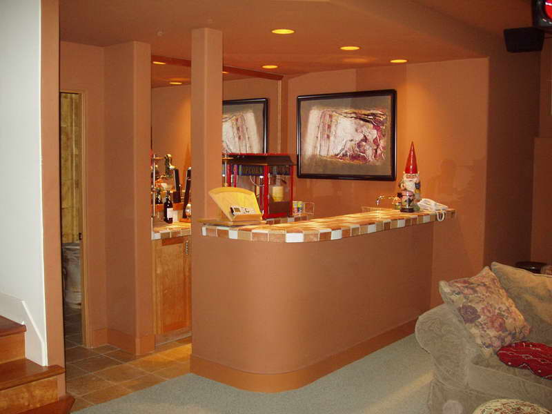 Pretty Small Basement Bar