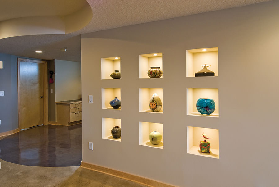 Image of: Remodel Basement Walls Decorative