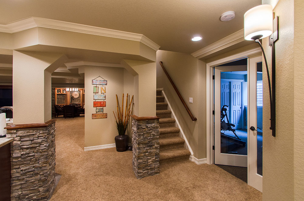 Image of: Remodel Basement Walls Modern