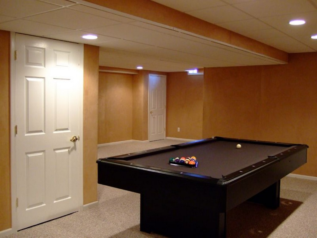 Image of: Remodel Basement Walls Painted