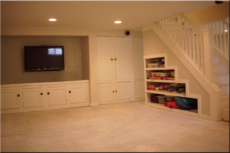 Image of: Remodel Basement Walls Simple