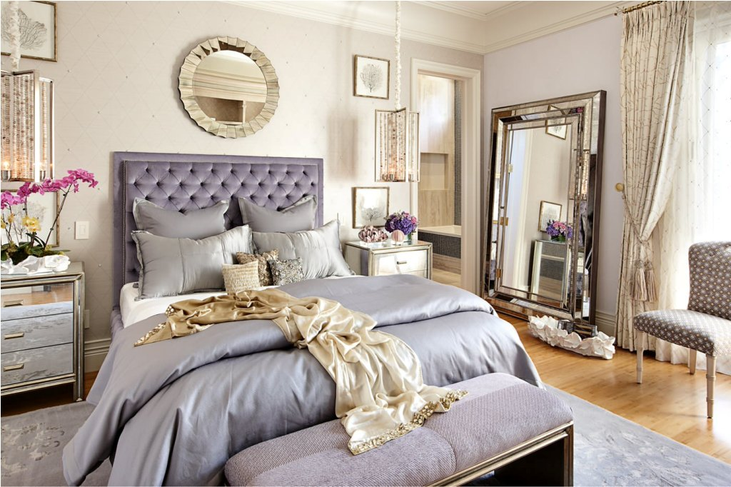 Image of: Round Decorative Mirrors Bedroom Wall