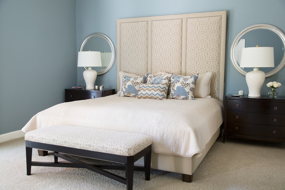 Image of: Simple Decorative Mirrors Bedroom Wall